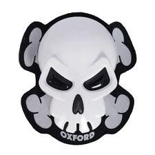 Oxford skull moto sliders genou Moto genou protection blanc universel