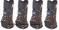 Classic Equine LEGACY2 SYSTEM Cheetah Front Hind Rear Value Pack SMB M Leg Boots