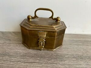 Vintage Brass Metal Ware Cricket Box