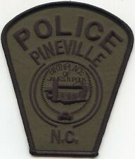 PINEVILLE NORTH CAROLINA NC Birthplace of James K Polk SUBDUED POLICE PATCH