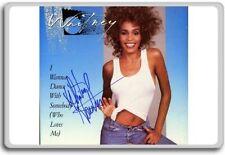 Whitney Houston Autographed Preprint Signed Photo Fridge Magnet