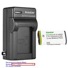 Kastar Battery Wall Charger for Kodak KLIC-8000 K8000 & Kodak Z8612 IS Camera
