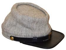 American Civil War Enlisted Confederate Jeancloth Kepi Hat Cap Xlarge 60/61cms