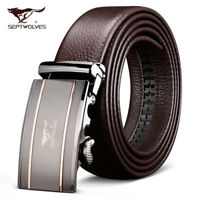 Luxury Mens Belts Genuine Septwolves 100% Full Leather Fine Christmas Present