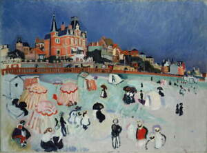 Raoul Dufy The Beach at Sainte Adresse Raoul Dufy Giclee Paper Print Poster