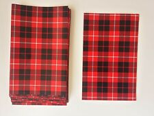 """15 Handmade Flat Paper Bags for Events Weddings Treats, Scottish Style 6.5""""x9.5"""""""