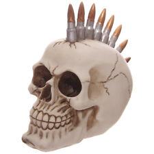 Totenkopf Patronen Mohikaner Frisur Schädel Gothic Skull Dekoration Mystik Deko