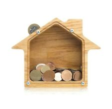 Personalized coin bank HOUSE Wooden Montessori toy Money box Piggy bank SMALL
