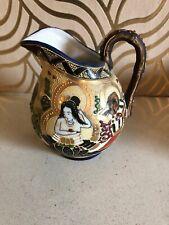 Beautiful Oriental Enamelled Ceramic Jug