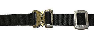 "UKOM 1"" 25mm AustriAlpin Fashion Model Cobra Buckle Black Belt + Chrome TR -5bl"