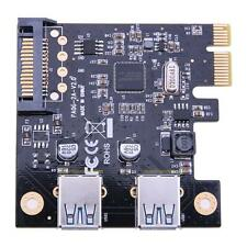New PCI-E to USB3.0 2 Port PCI Express Expansion Card 19Pin Power Connector