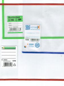 Buchhülle roten-blauen-grünen Rand Buchschoner Buchumschläge Buchumschlag