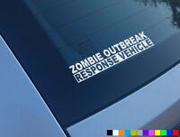ZOMBIE OUTBREAK RESPONSE VEHICLE FUNNY CAR STICKER DUB VINYL DECAL WINDOW COD