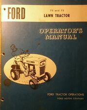 Ford 70 75 Lawn Tractor Mower Snow Plow Thrower PTO, Owner Parts (6 Manuals) 82p