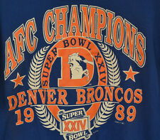 Logo 7 1989 Denver Broncos AFC Champions Super Bowl XXIV Sweatshirt Adult Large
