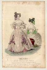 Mode-fashion print-Biedermeier - Stahlstich 1836 Petit Courrier des Dames