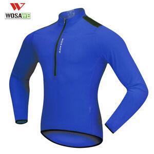 Mens Half Zip Cycling Jerseys Short Sleeve Bike Bicycle Clothing Breathable Tops