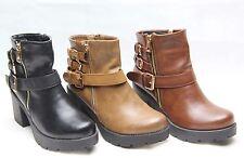 Block Heel Ankle Boots for Women's Snakeskin