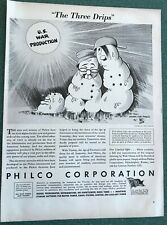 U.S. War Production Melts Hitler, Mussolini, & Tojo  WWII  Ad, anti Axis ad