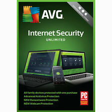 AVG Internet Security Unlimited Devices 1 Year Subscription 2018 - NEW™