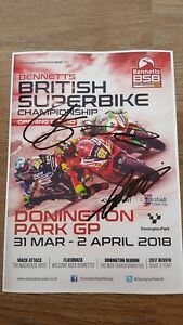 JOSH BROOKES & BRADLEY RAY BSB RIDER SIGNED PICTURE 12x8 BSB POSTER