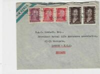 Argentina 1953 air mail stamps cover ref 21749