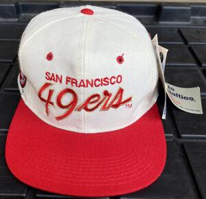 NWT Vintage San Francisco 49ers Sports Specialties Script Snapback Hat Cap NFL