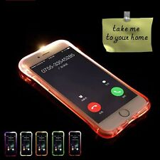 TPU LED Flash Lighting Incoming Call Clear Back Case Cover For Samsung Galaxy S8