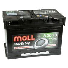 MOLL start stop EFB 82070 12V 70Ah Autobatterie Startbatterie PKW Batterie