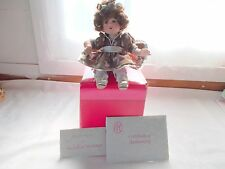 Marie Osmond Hershey's Kisses Tiny Tots Doll Handcrafted COA + Necklace
