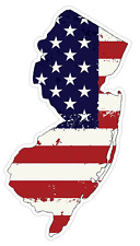 New Jersey State (J31) USA Flag Distressed Vinyl Decal Sticker Car/Truck Laptop