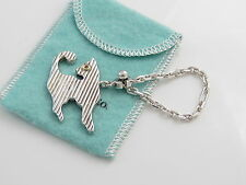 Tiffany & Co RARE VINTAGE Silver Gold Cat Key Ring key Chain Keychain