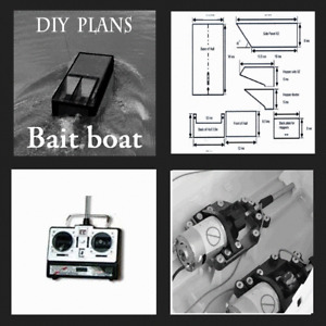 CARP BAIT BOAT. DIY PLANS TO BUILD YOUR OWN PC CD ROM