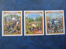 Battles of Shiloh, Chancellorsville & Gettysburg Postage Stamps