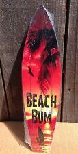 "Beach Bum Sunset Sail Mini Novelty Beach Surf Board Sign 17"" x 4.5"""