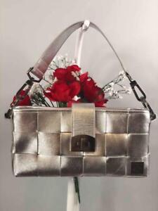 HARVEYS Seatbelt Limited Edition Metallic Silver Classic Shoulder Bag