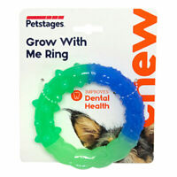 Petstages Grow With Me Ring Okra Dental Chew Dog Puppy Toy