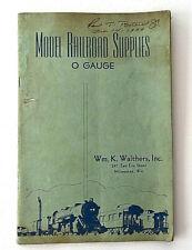 1939 Edition Model Railroad Supplies Wm. K. Walthers Catalog  O Gauge