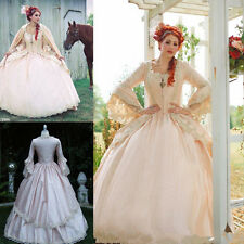 Pink Gothic Wedding Ball Gown Vintage Victorian Chic Bridal Dresses Custom Size