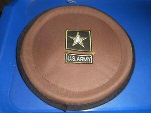 US Army Folding Dog Frisbee Christmas DOGGIE STOCKING STUFFER ALL CLOTH
