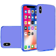 For Apple iPhone X and iPhone XS Flexible Transparent TPU Candy Cover Case