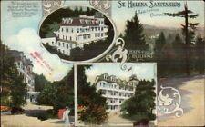 St. Helena Sanitarium CA Multi-View c1910 Postcard