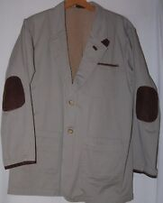 Vintage Guide Gear Mens Jacket Coat Blazer M Taupe Brown Suede Elbow Pads M