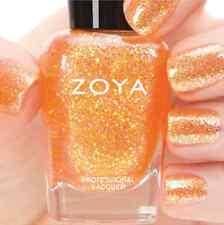 ZOYA ZP741 ALMA golden peach/yellow holographic jelly nail polish ~ BUBBLY *New