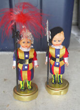 "Lot of 2 Vintage 1960s Plastic Italy Uniform Character Girl Dolls 4 3/4"" Tall"