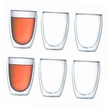 Bodumpavina Gläserset Doppelwandig Isoliert Liters Transparent Kaffee Teegläse