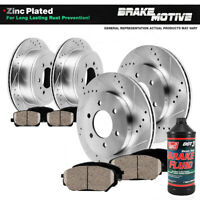 Front+Rear Drill Brake Rotors + Ceramic Pads For 2004 - 2007 2008 Ford F-150 4WD