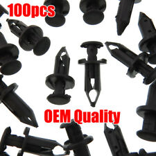 Set Of 100 ATV Retainer Clips 8mm Push Pin Splash Guard Body Panel Fit For Honda