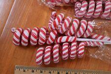 NEW 3 RAZ CURLY SWIRL PEPPERMINT CANDY CANE SPRAYS Christmas tree Decor