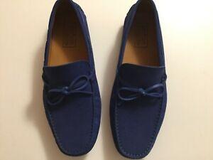 MERCANTI FIORENTINI Blue Suede Men's Driving Loafers 9